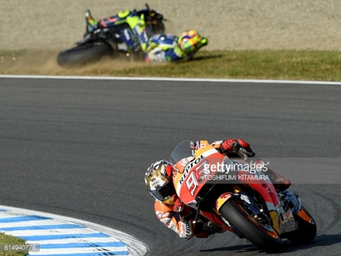 Double disaster for Movistar Yamaha in Japan who handed the championship to Marquez
