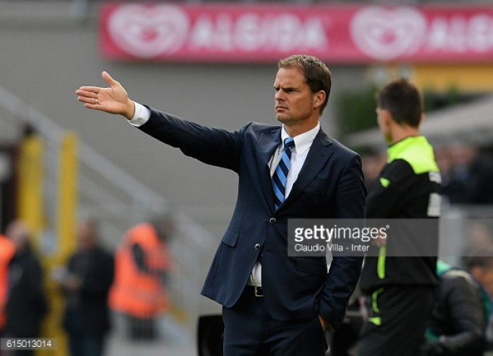 Inter in the hunt for potential replacements for faltering Frank de Boer