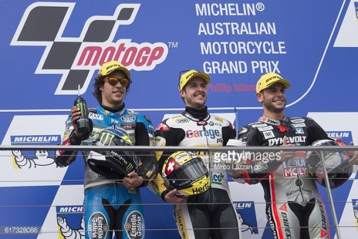 Moto2: Phillip Island podium finishers