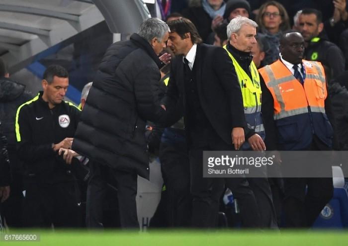 Jose Mourinho condemns behaviour of Antonio Conte after heavy Chelsea defeat