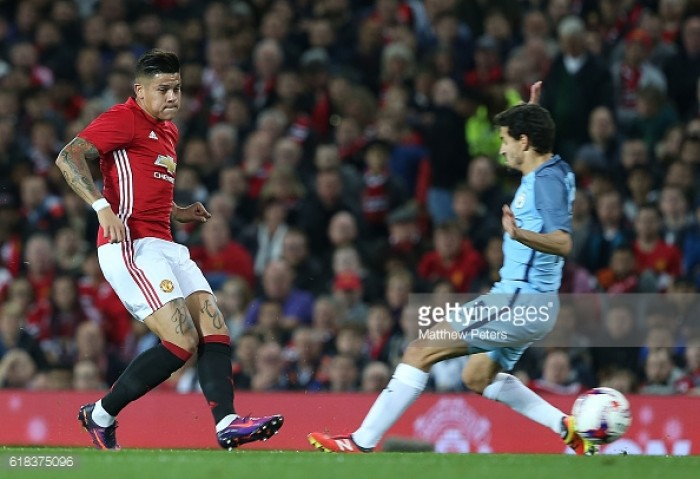 Mourinho singles out Rojo for praise after surprise stellar performance