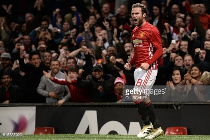 Manchester United 1-0 Manchester City: Mata strike sends United into EFL Cup quarter-final