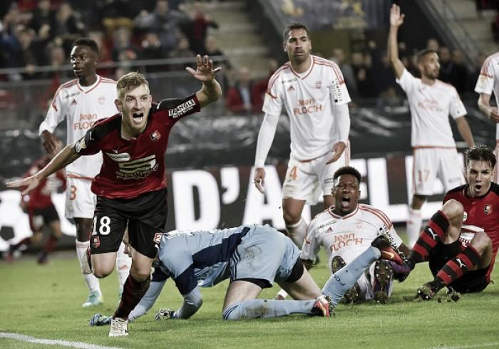 Brasileiro Pedro Henrique marca no fim e Rennes elimina rival Lorient na Copa da Liga