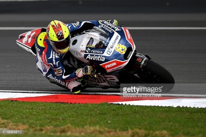 Barbera the top independent team rider, finishing fourth in Sepang