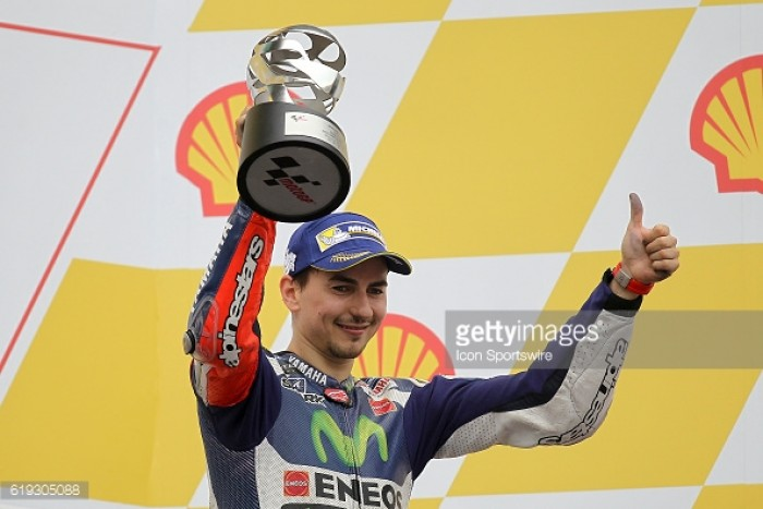 Lorenzo third in the wet at Sepang