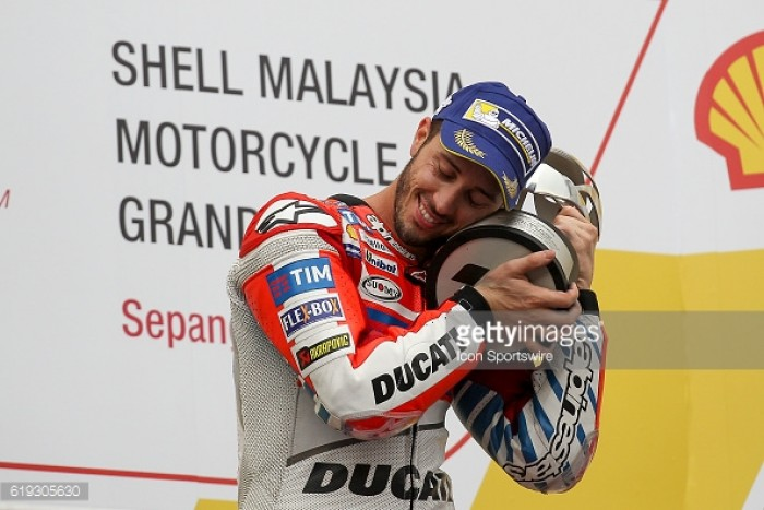 Dovizioso the ninth MotoGP winner in 2016, winning in Sepang