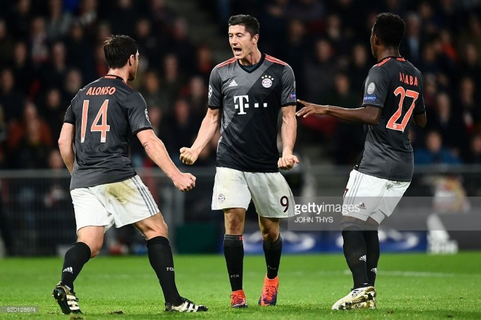 PSV Eindhoven 1-2 Bayern Munich: Lewandowski sends German champions into the last 16