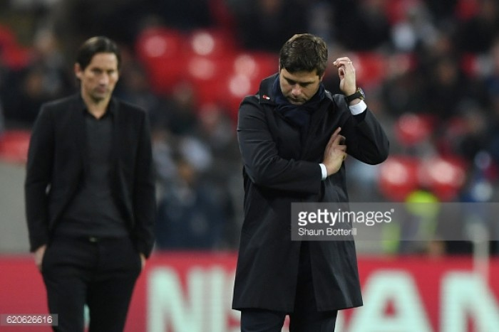 Pochettino 'embarrassed' by a second consecutive Wembley loss in the Champions League