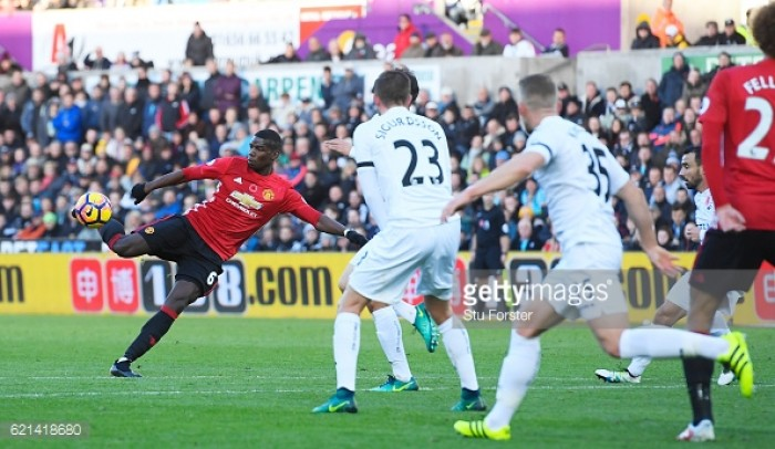 Paul Pogba vows to score more goals for Manchester United after Swansea screamer