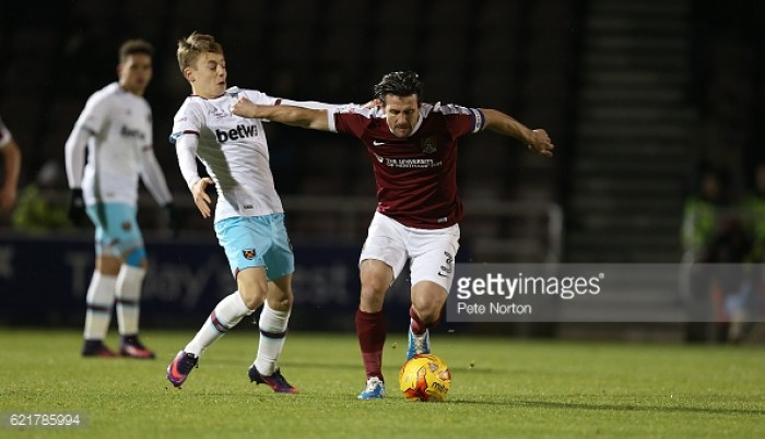 Northampton Town 1 (2) - (3) 1 West Ham United: Hammers U23s out of Checkatrade Trophy despite shoot-out win