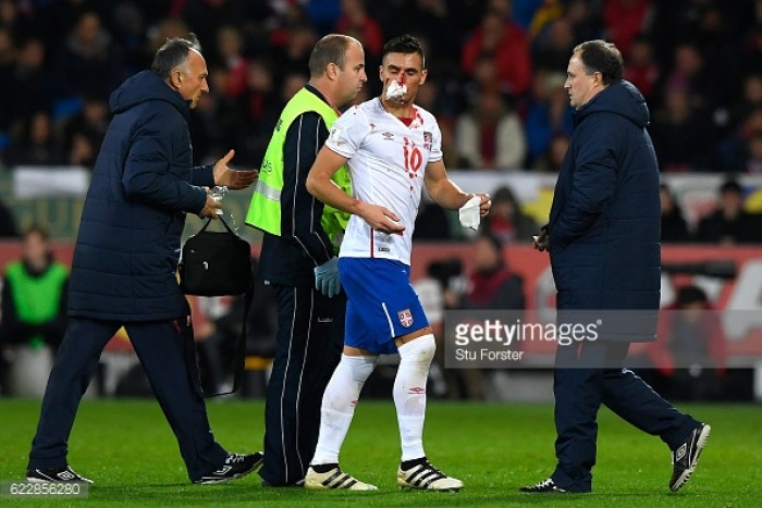 Tadic to wear protective mask after suspected broken nose