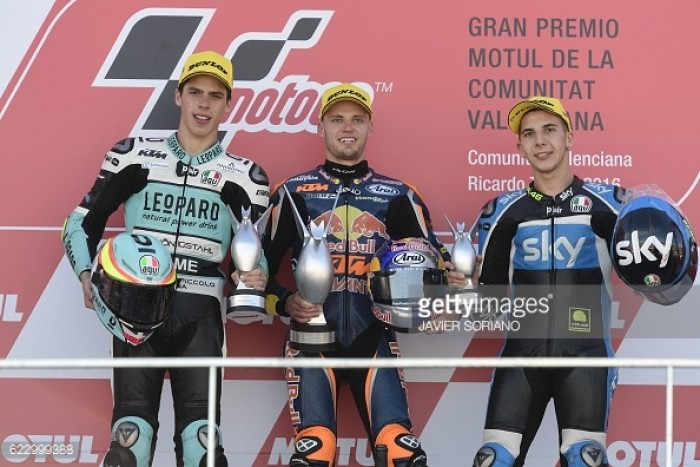 Moto3: Podium finishers discuss success at season finale