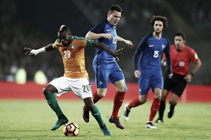 Com time misto, França empata sem gols com a Costa do Marfim em último jogo do ano