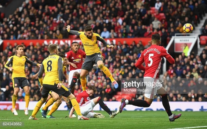 Manchester United 1-1 Arsenal: Giroud's late header maintains Gunners' unbeaten run