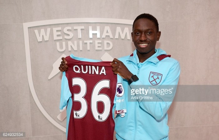Domingos Quina signs first professional contract with West Ham United