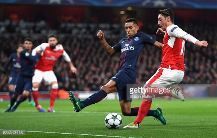 Arsenal 2-2 Paris Saint-Germain: Battle for Group A top spot to be decided in last game