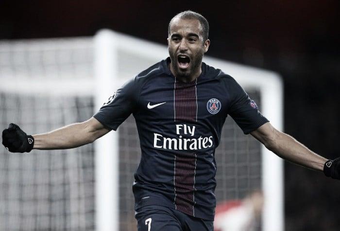"""Boa atuação contra o Arsenal motiva Lucas: """"Buscaremos o primeiro lugar no grupo"""""""