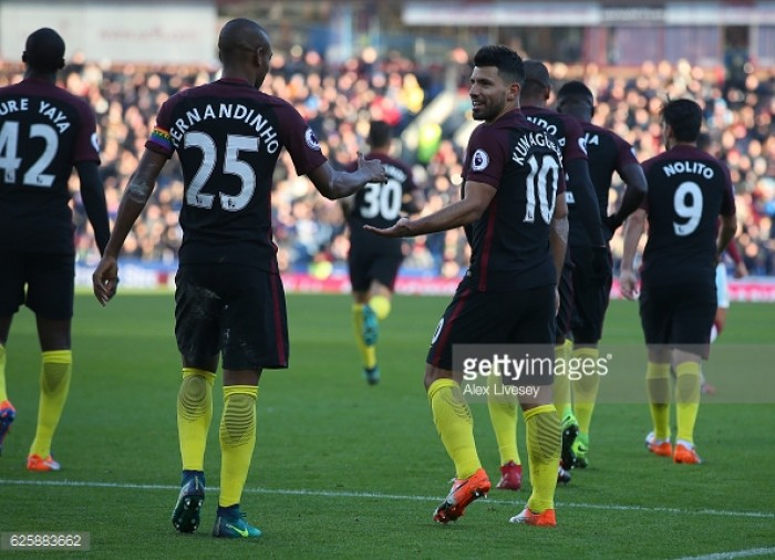 Burnley 1-2 Manchester City: Aguero brace sinks courageous Clarets
