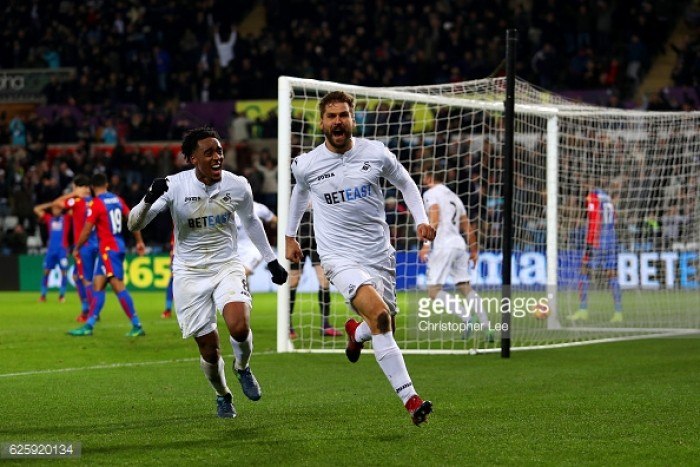 Forward Fernando Llorente insists he is happy at Swansea City