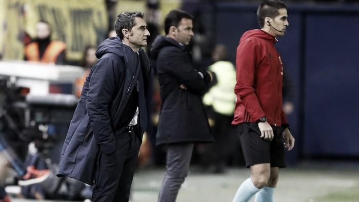 """Valverde valoriza vitória após tropeços: """"Queríamos nos reencontrar com as vitórias"""""""