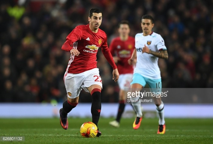 Jose Mourinho pleased with Henrikh Mkhitaryan's progress at Manchester United