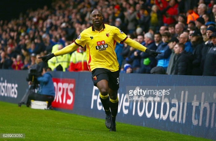 Okaka double leads Watford over Everton
