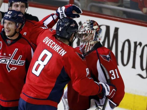 Grubauer Helps Caps Even Series With Islanders 1-1 With Big Game