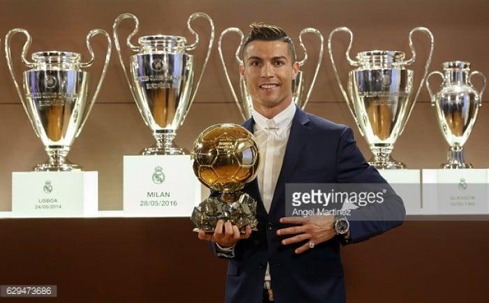 Real Madrid's Cristiano Ronaldo wins his fourth Ballon d'Or