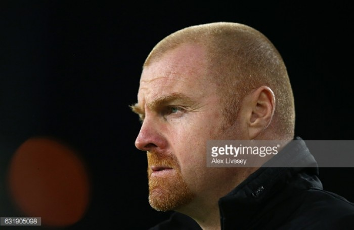 Sean Dyche urges his Burnley side to avoid falling foul in the FA Cup