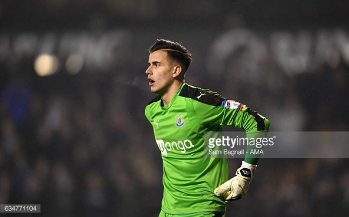 Reports suggest Middlesbrough have £5 million bid for Newcastle United keeper Karl Darlow rejected