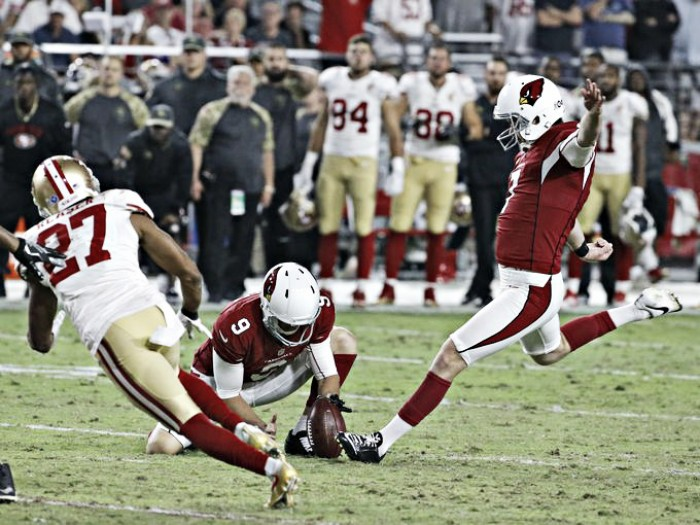 Late field goal lifts the Arizona Cardinals over the San Francisco 49ers
