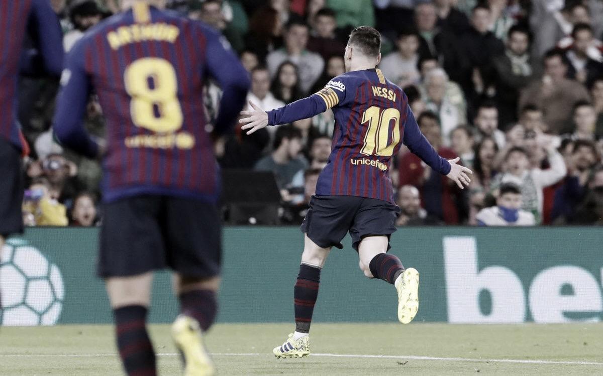 Com Messi inspirado, Barcelona derrota Betis amplia vantagem na liderança da La Liga