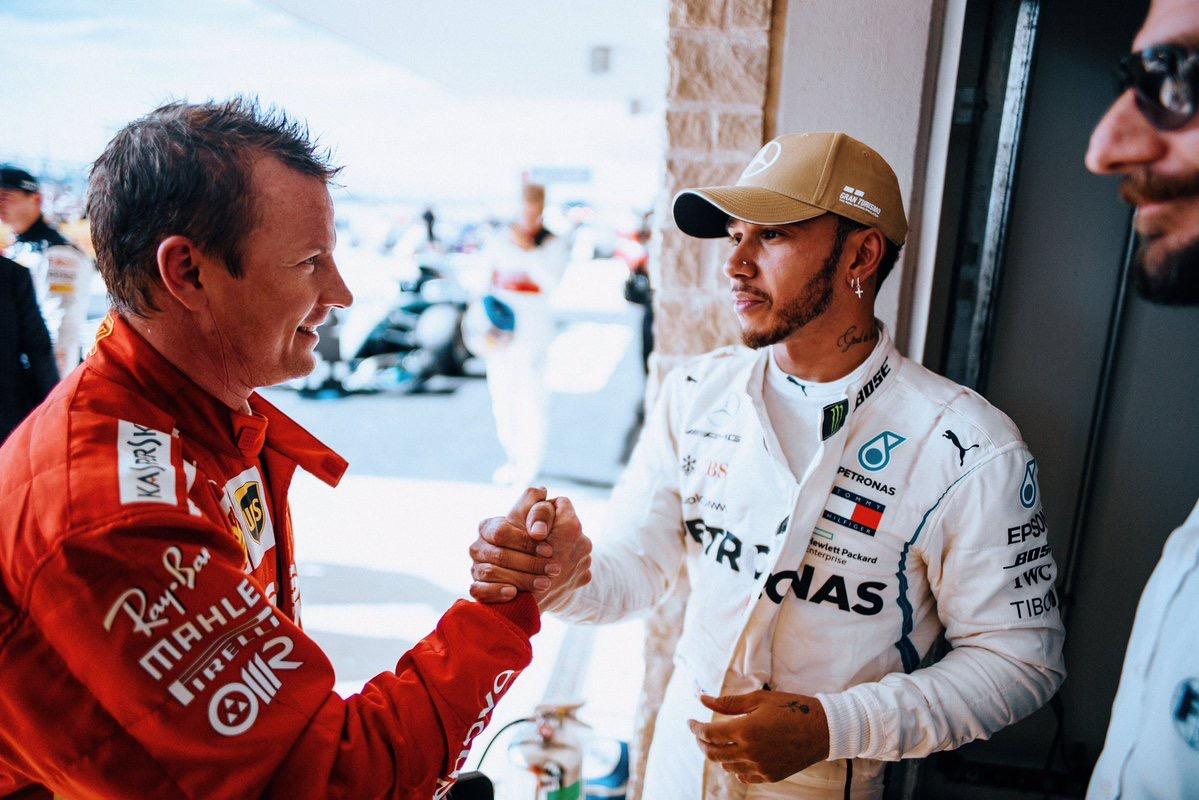 Raikkonen gatecrashes Hamilton's title party in Austin