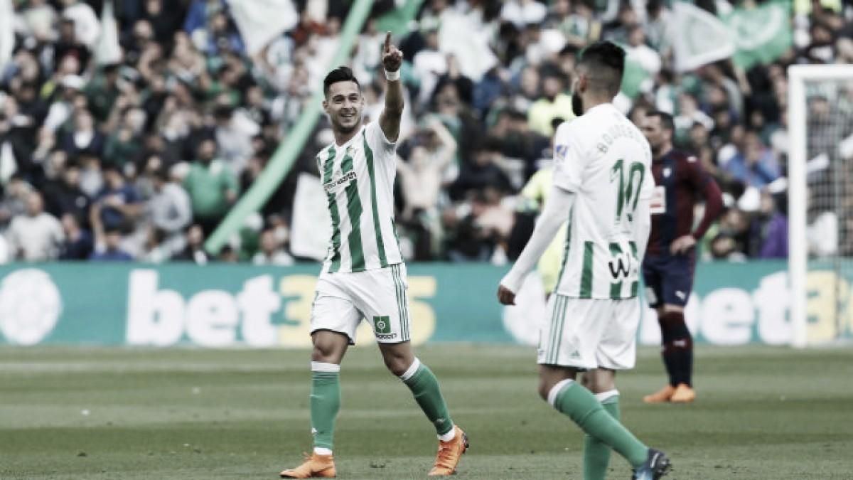 Betis bate Eibar, emenda quarta vitória seguida e fica perto de confirmar vaga na UEL