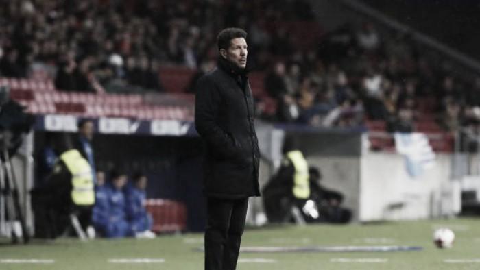 """Simeone mantém cautela após nova goleada e classificação: """"Vamos jogo a jogo"""""""
