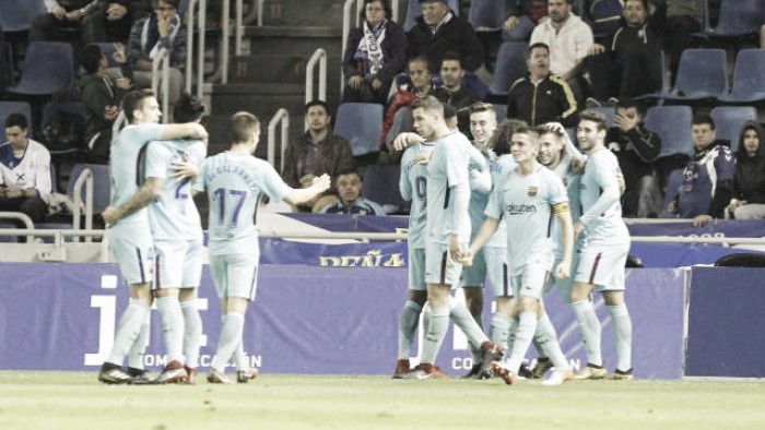 Los cedidos del Eibar: Christian Rivera aporta a la victoria del Barça B
