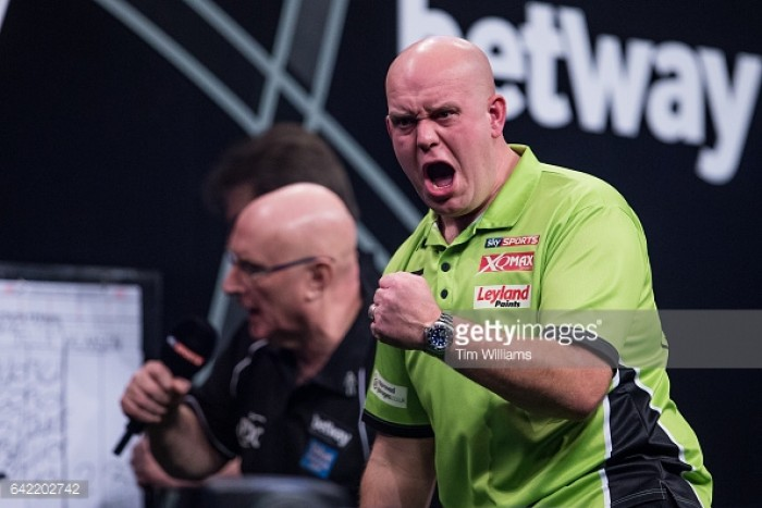 Michael van Gerwen remains unbeaten in Premier League after Phil Taylor victory