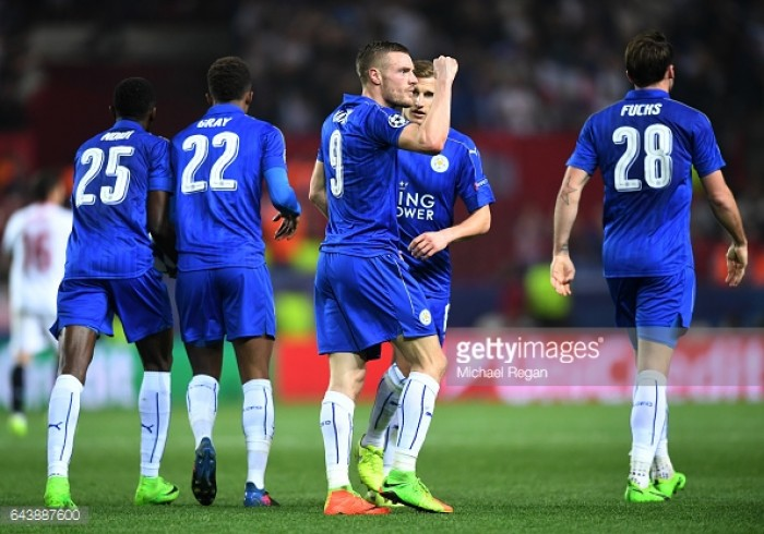Sevilla 2-1 Leicester City: Vardy strike gives Foxes hope against scintillating Sevilla