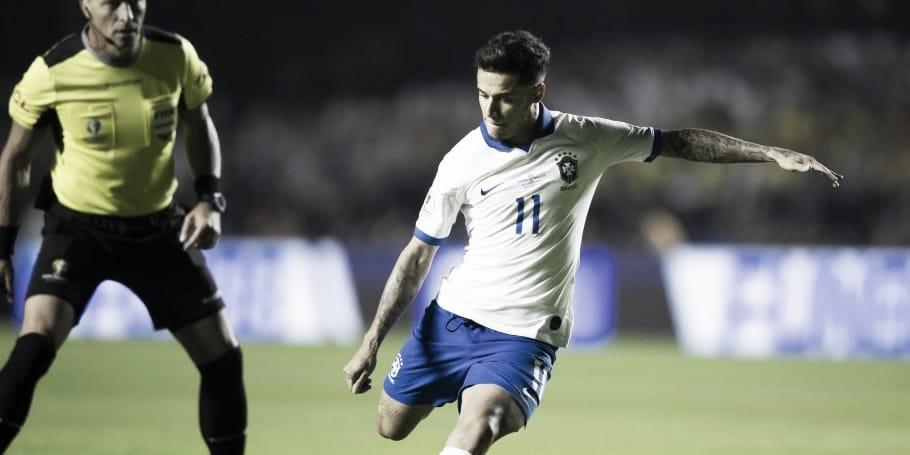 Autor de dois gols, Philippe Coutinho é o principal destaque na estreia do Brasil