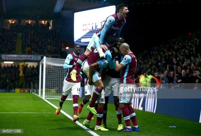 Watford 1-1 West Ham: Ayew saves point for ten-man Hammers in heated London derby