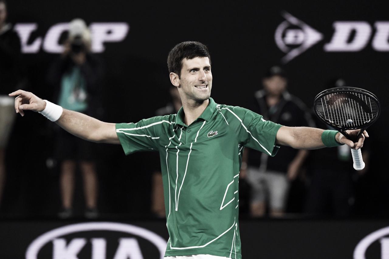 Em batalha de cinco sets, Djokovic vence Thiem e é octa na Austrália
