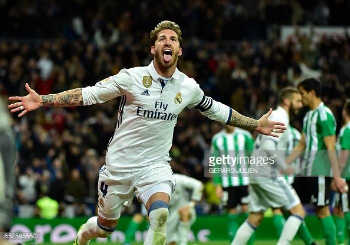 Real Madrid 2-1 Real Betis: Sergio Ramos' late header sends Madrid back top of La Liga