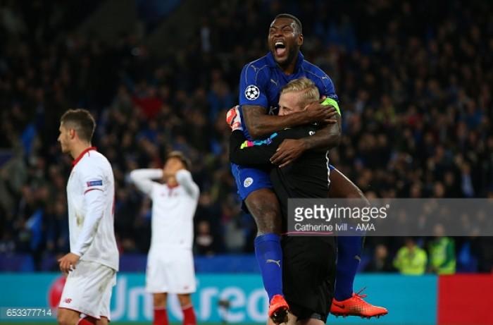 Leicester City 2-0 Sevilla: Foxes slay ten-man Sevilla to reach the Champions League quarter-finals