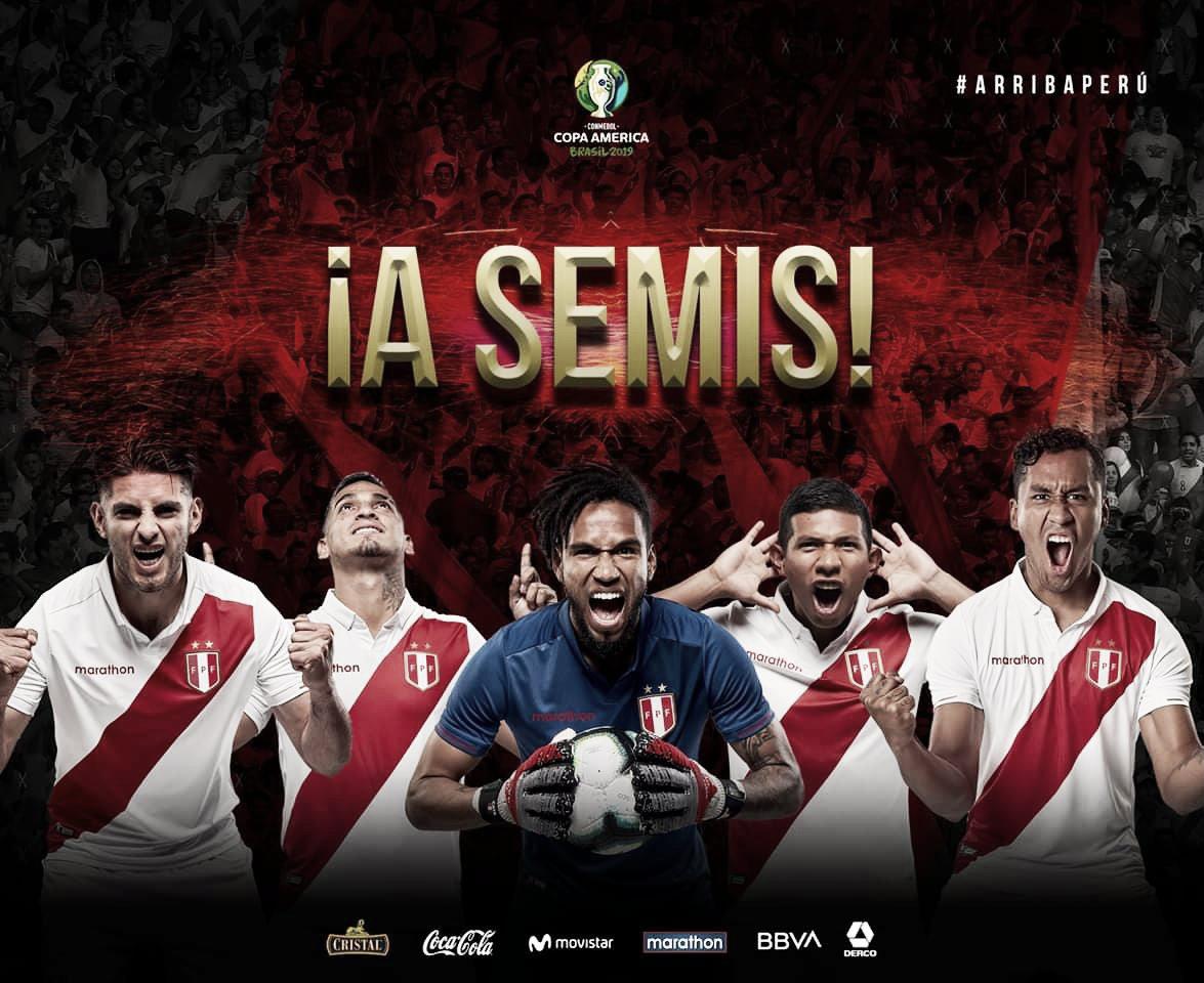 Perú, semifinalista de la Copa América 2019