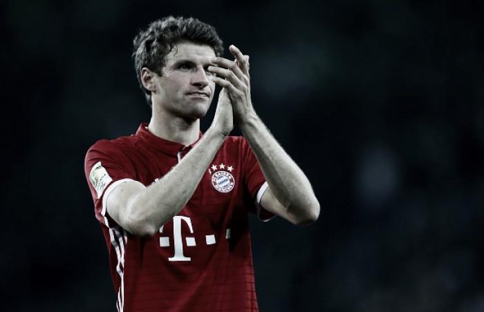 """Após gol decisivo, Thomas Müller exalta empenho do Bayern: """"Estamos viciados em ganhar"""""""