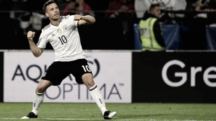 Amichevoli internazionali: la Germania batte l'Inghilterra grazie a Podolski (1-0)
