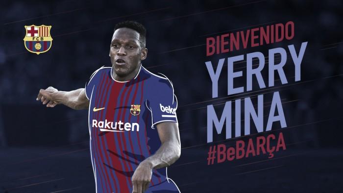 Contrato até 2023 e cláusula de € 100 milhões: Mina é anunciado pelo Barcelona
