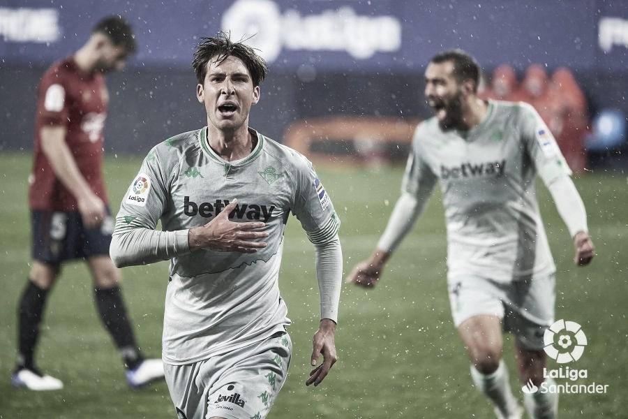 CA Osasuna 0-2 Real Betis: El Panda señala el camino en El Sadar