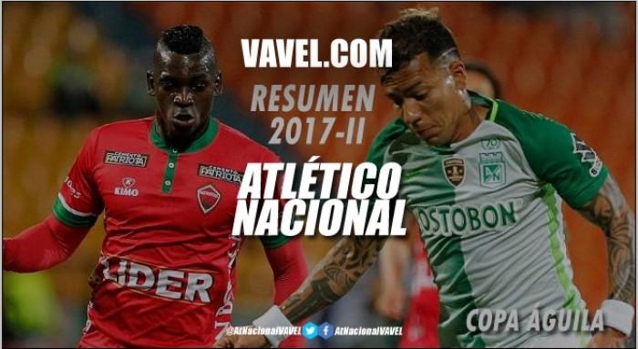 Resumen de Atlético Nacional 2017 II: Copa Águila, el sueño quedó en cuartos de final