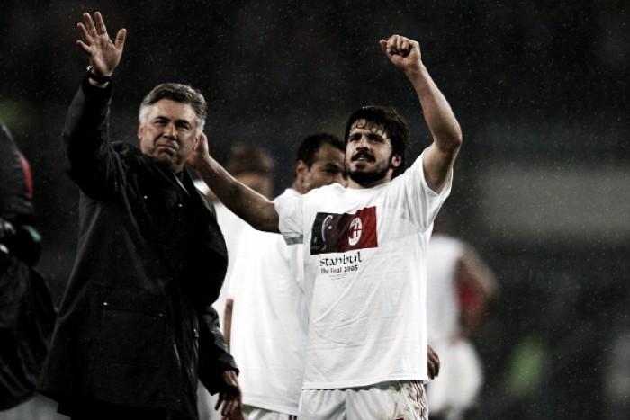 Técnico do Milan, Gattuso faz dedicatória especial a Carlo Ancelotti